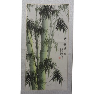 Chinese Painting Scroll - Bamboo Peace