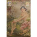 Old Shanghai Advertising Poster - Semi Nude Lady Ad