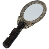 Vintage Hand Mirror - Oval Shape