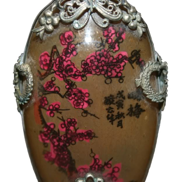 Beautiful Framed Glass Snuff Bottle with Double Side Painting -Detail 2