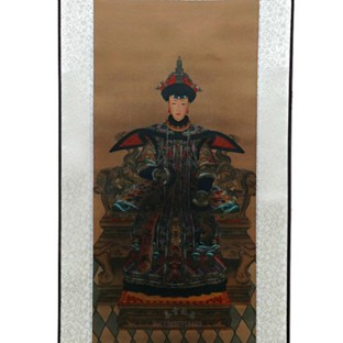 Chinese Empress Portrait on Largel Silk Scroll