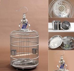 Standard 42 cm Stainless Steel Round Bird Cage