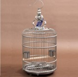 Standard 45 cm Stainless Steel Round Bird Cage