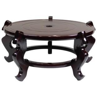 Oriental  37 cm Wood Vase Stand