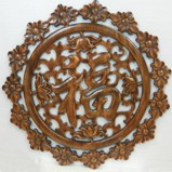 Chinese Camphor Wood Carved Wall Hanging