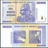 Zimbabwe 10 Billion Dollars 2008 Banknote UNC AA+