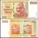 Zimbabwe 1000 Dollars Banknote