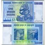 Zimbabwe 1 Million Dollars Banknote