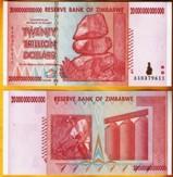 Zimbabwe 20 Trillion Dollars 2008 Banknote UNC AA+