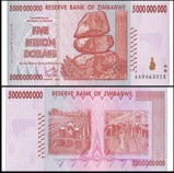 Zimbabwe 5 Billion Dollars 2008 Banknote UNC AA+