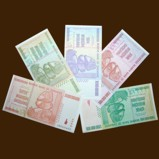 Zimbabwe Billion Dollars Set of 5  Banknotes Uncirculated UNC