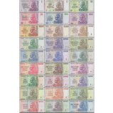 Zimbabwe Banknotes Full Set 27 Pieces