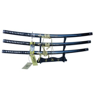 Set of 3 Kill Bill Japanese Katana Bill Bride Budd Swords