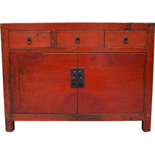 Original Red Painted Sideboard