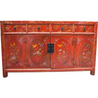 Original Red Manchurian Sideboard