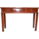 Red 3-Drawer Hallway Table/Desl