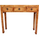 Brown 3-Drawer Hallway Table