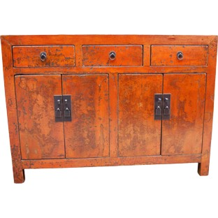 Original Red Manchurian Sideboard
