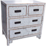 White Tall Bedside Cabinet