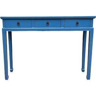 Blue 3-Drawer Hallway Table
