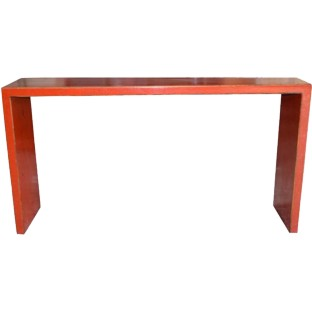 Flush Red Hallway Table
