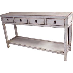 White Hallway Table