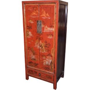 Red Medium Cabinet